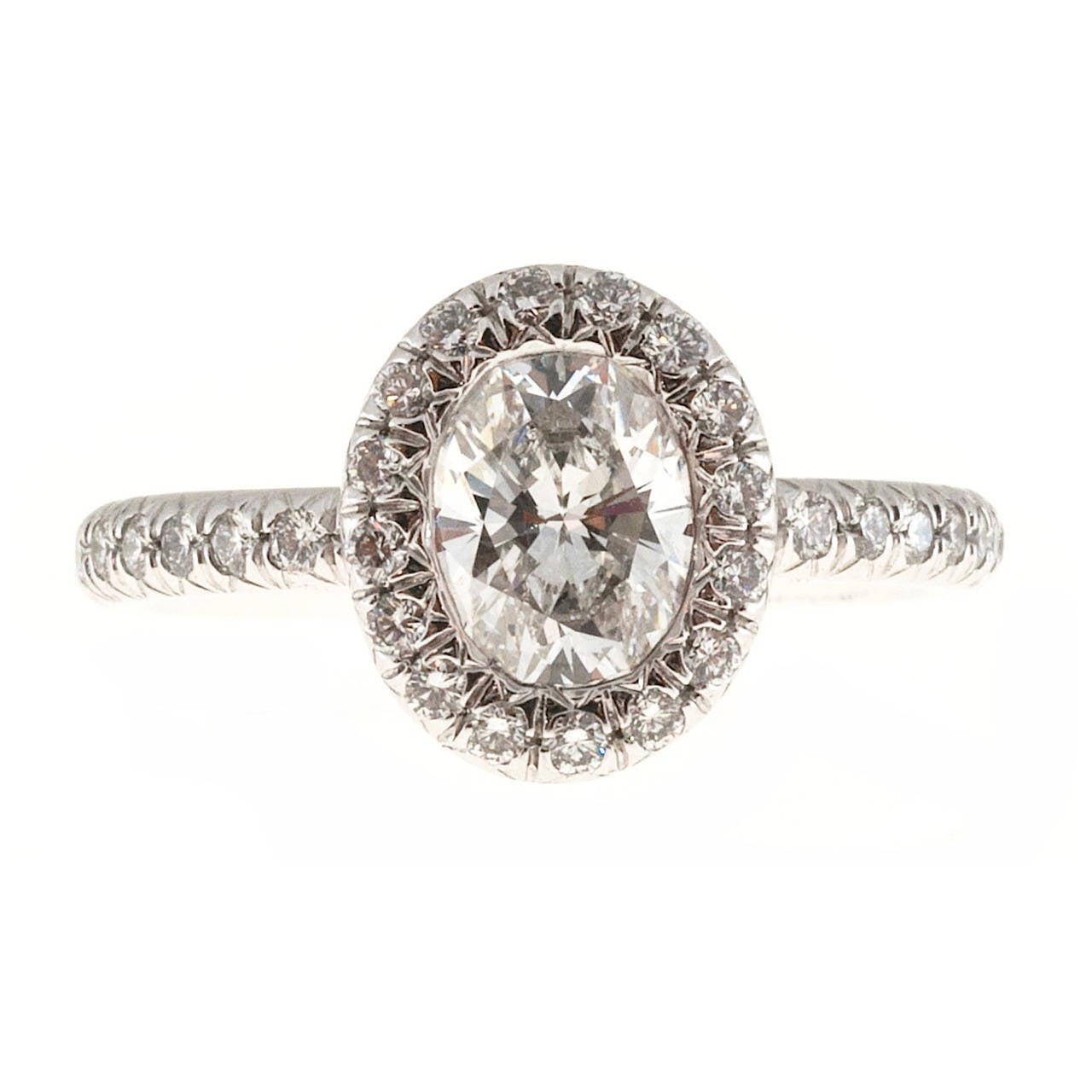 Kwiat Oval Diamond Micro Pave Platinum Ring 1