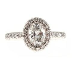 Kwiat Oval Diamond Micro Pave Platinum Ring