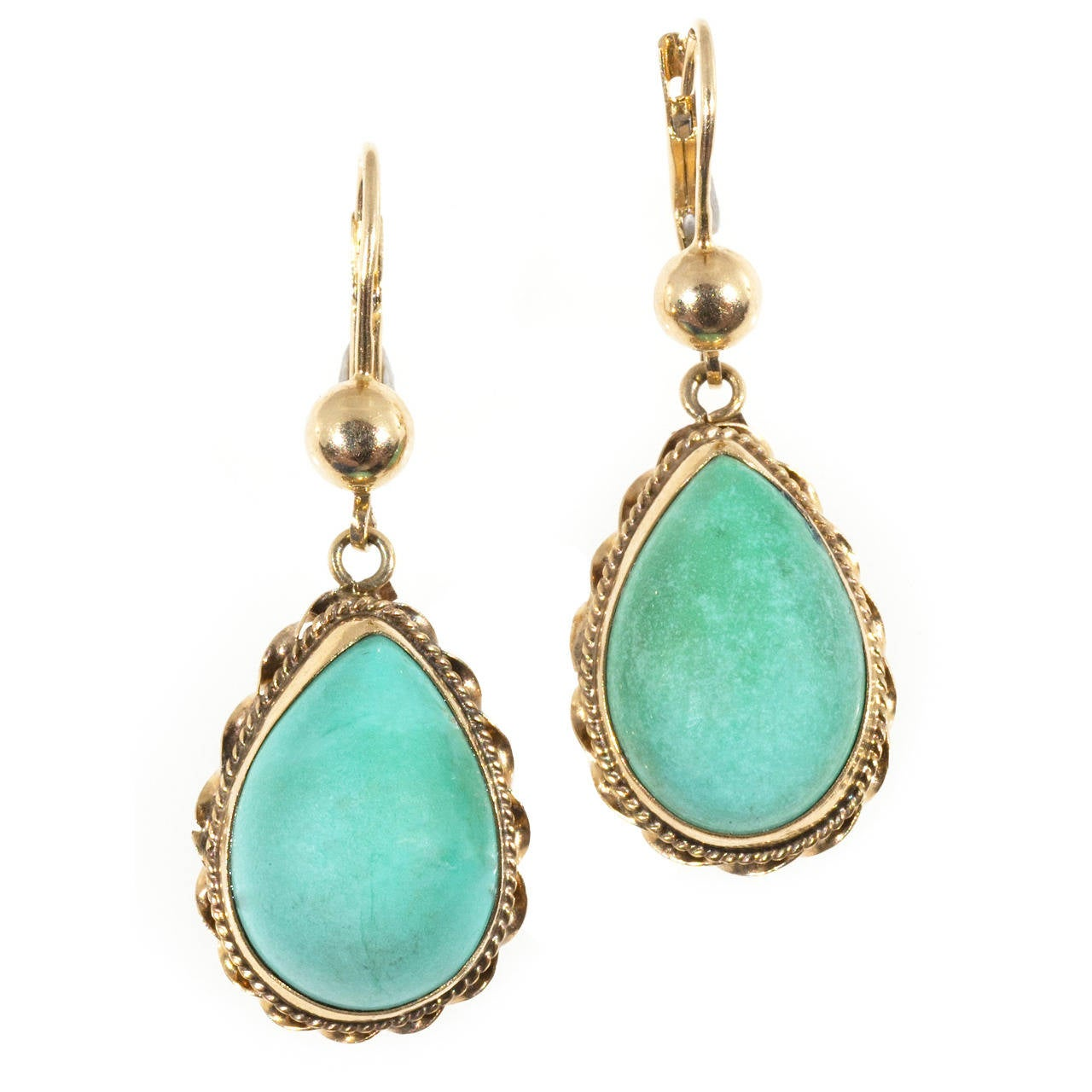 turquoise pink gold dangle earrings at 1stdibs