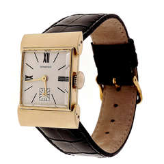Tiffany & Co. yellow Gold Rectangular Hooded Hinged-Lug Strap wristwatch