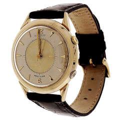 LeCoultre Yellow Gold Memovox Alarm Wristwatch circa 1960s