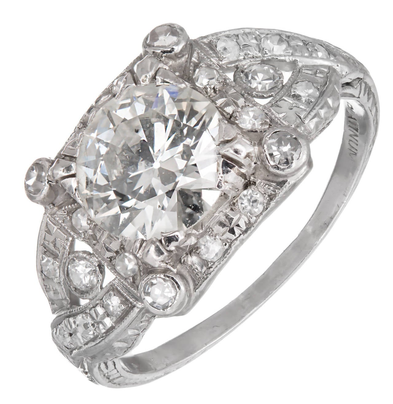 1.35 Carat Diamond Platinum Engagement Ring