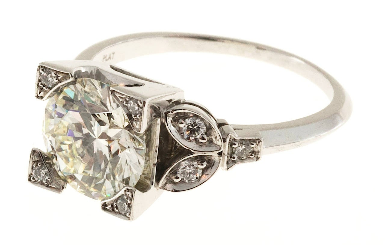 Diamond Transitional Cut Platinum Ring 2