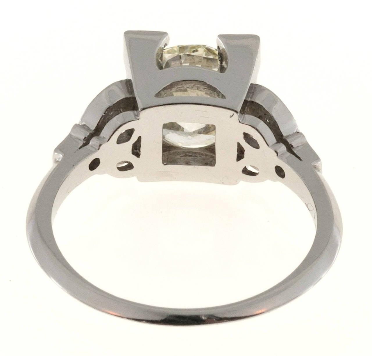 Diamond Transitional Cut Platinum Ring 4