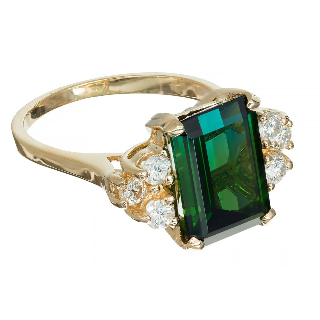 bright green tourmaline and diamond yellow gold ring at. Black Bedroom Furniture Sets. Home Design Ideas