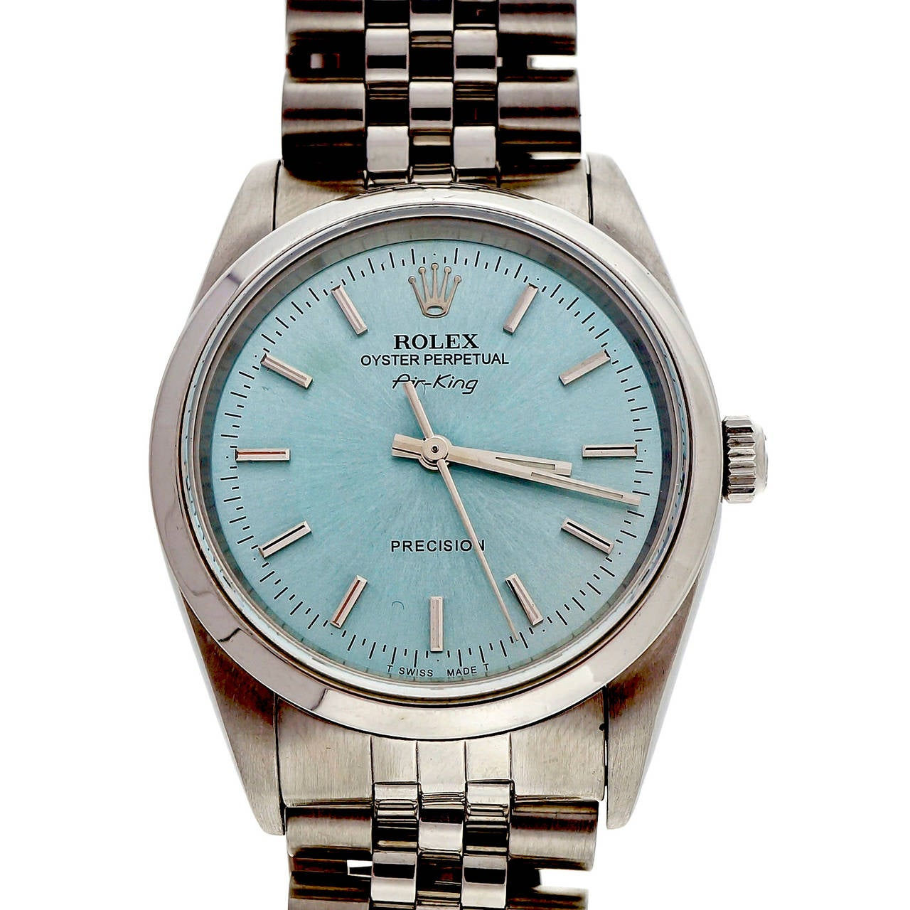 Rolex Stainless Steel Oyster Perpetual Air King Wristwatch Ref 14000 5