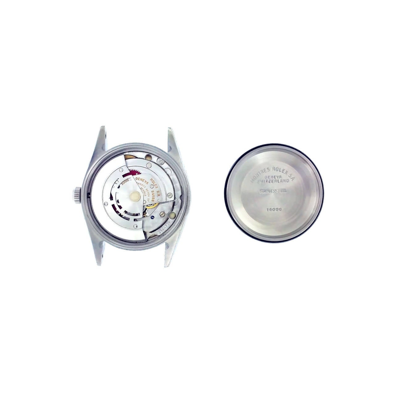Rolex Stainless Steel Oyster Perpetual Air King Wristwatch Ref 14000 7