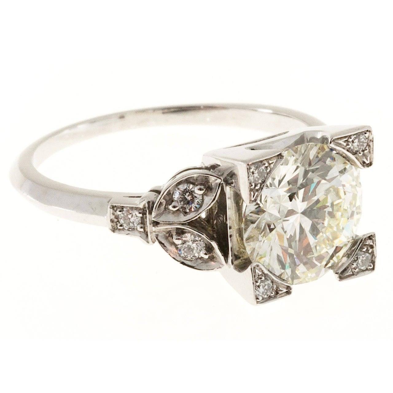 Diamond Transitional Cut Platinum Ring 1