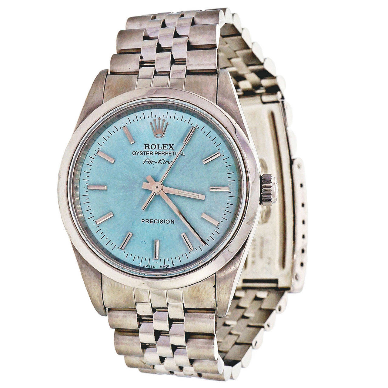 Rolex Stainless Steel Oyster Perpetual Air King Wristwatch Ref 14000 1