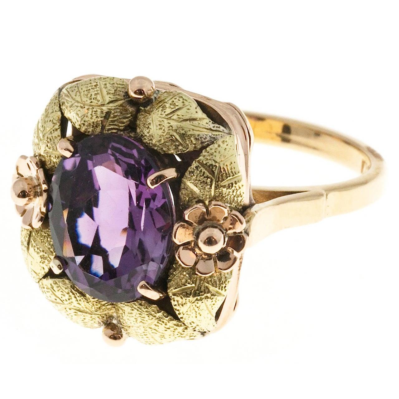 Victorian Amethyst Gold  Ring