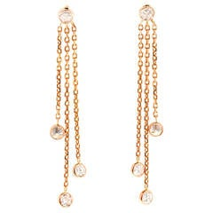 Peter Suchy Diamond by the Yard Style Rose Gold Dangle Drop Earrings