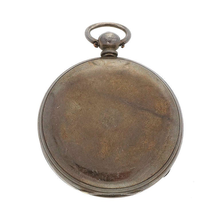 1fe77430e Civil War MJ Tobias Silver Pocket Watch Picturing Major General For Sale 3