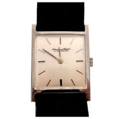 IWC White Gold Rectangular Wristwatch circa 1962