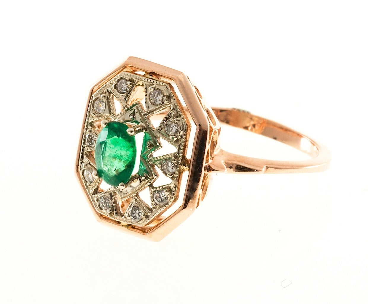 oval emerald gold ring for sale at 1stdibs