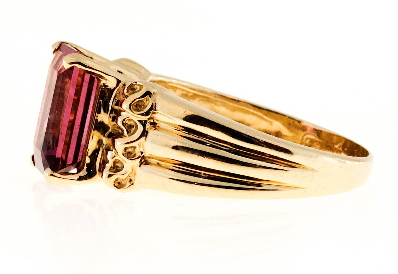 pink tourmaline gold cocktail ring for sale at 1stdibs