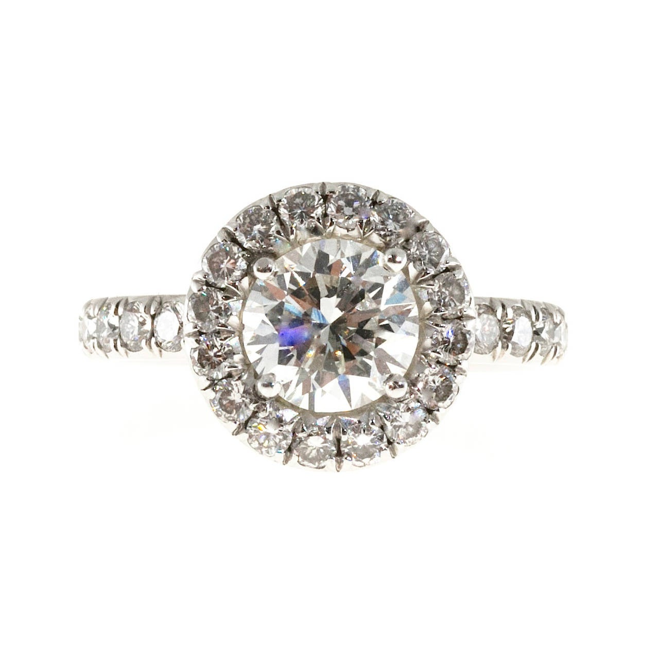 platinum halo ring at 1stdibs