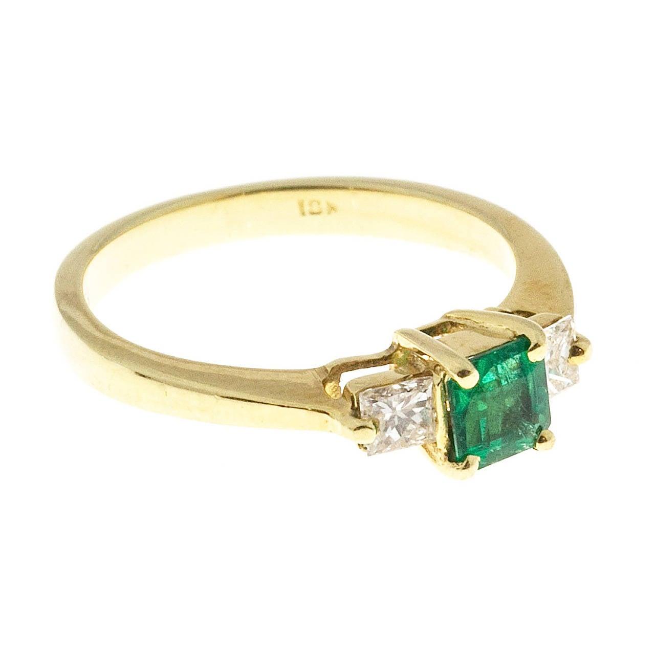 cert emerald gold ring at 1stdibs