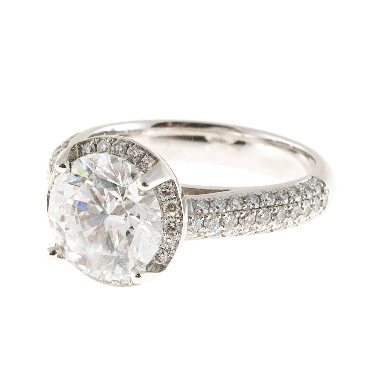Peter Suchy Diamond Platinum Halo Ring