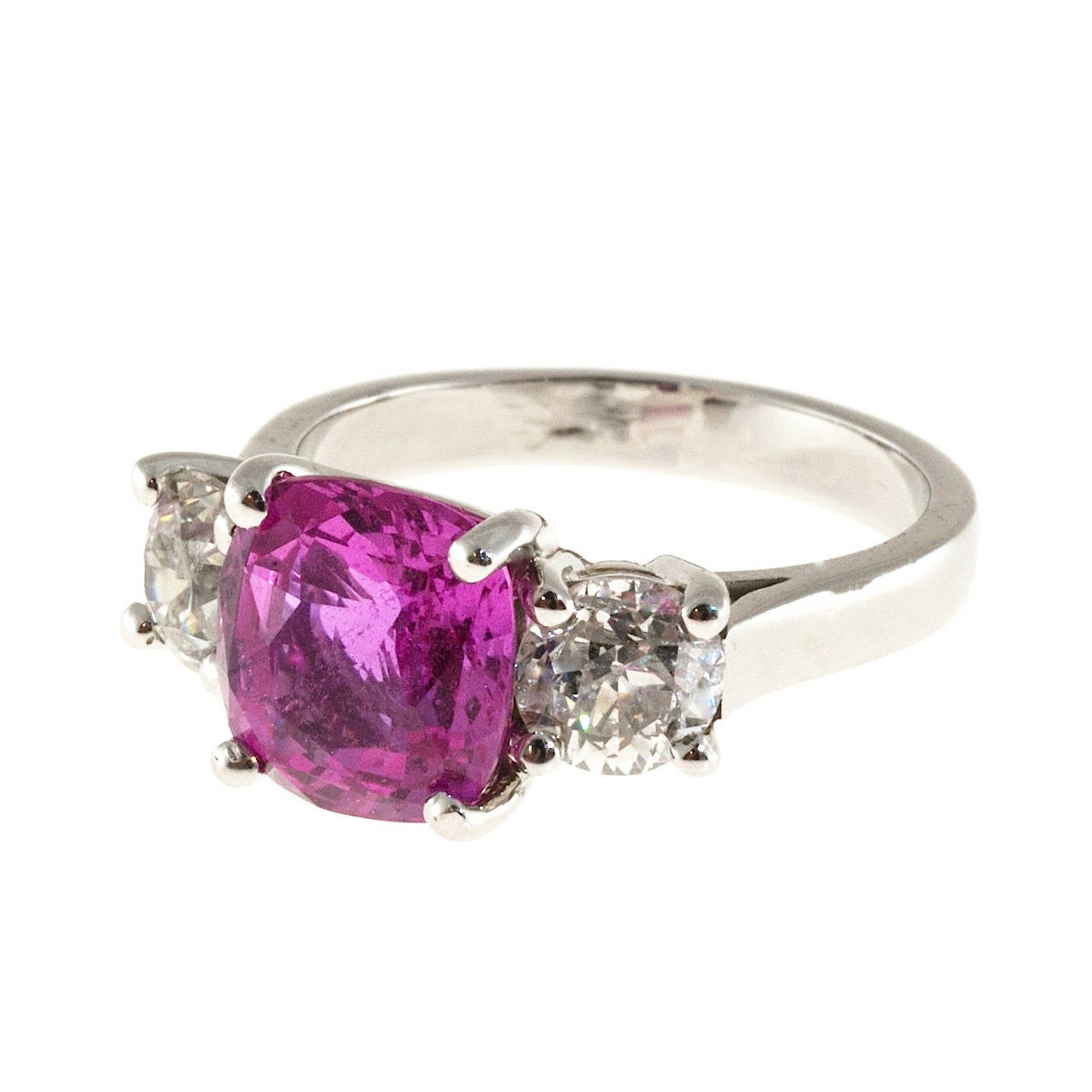heat and sapphire diamond no pink carats ring natural