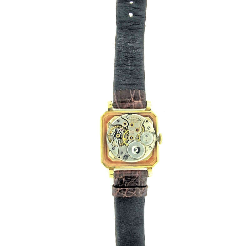 Longines Yellow Gold Wristwatch with Diamond Dial Retailed by Tiffany & Co. For Sale 3