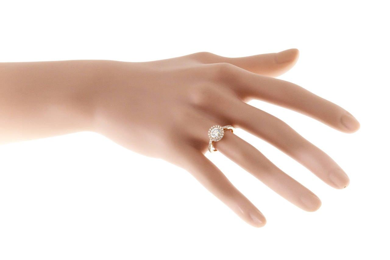 Peter Suchy GIA Certified 1.06 Carat Diamond Halo Rose Gold Engagement Ring 7