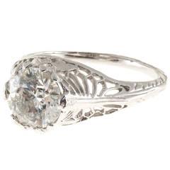 Diamond Platinum Filigree Ring