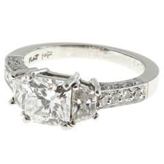 Martin Flyer GIA Cert Diamond Platinum Engagement Ring