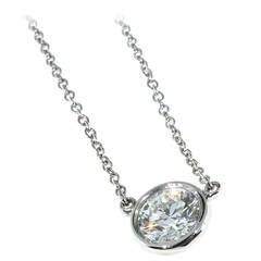 Tiffany & Co. Elsa Peretti Diamond by the Yard Platinum Necklace