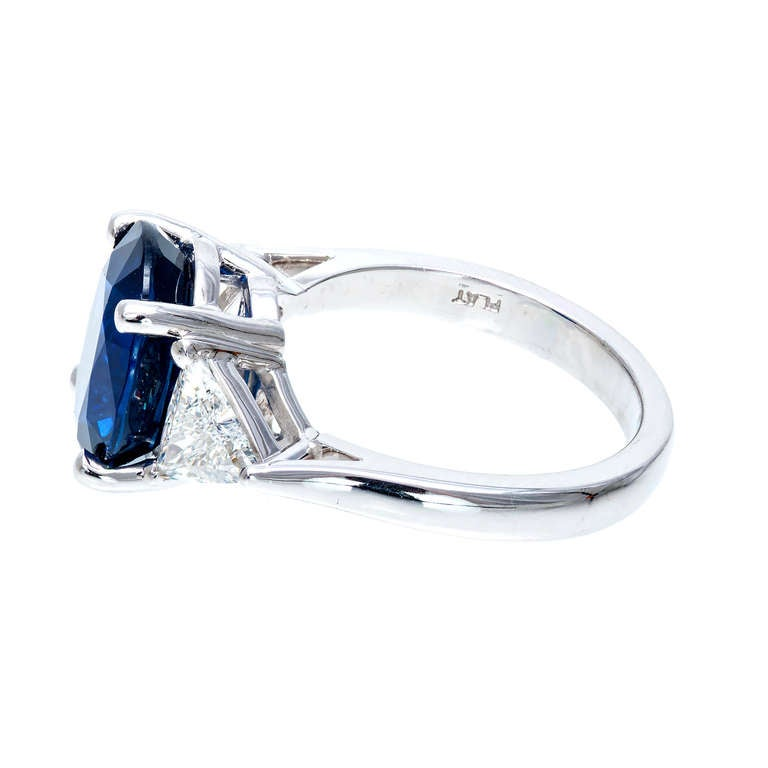 oval sapphire platinum engagement ring at 1stdibs
