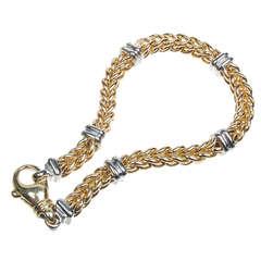 Yellow White Gold Woven Bracelet