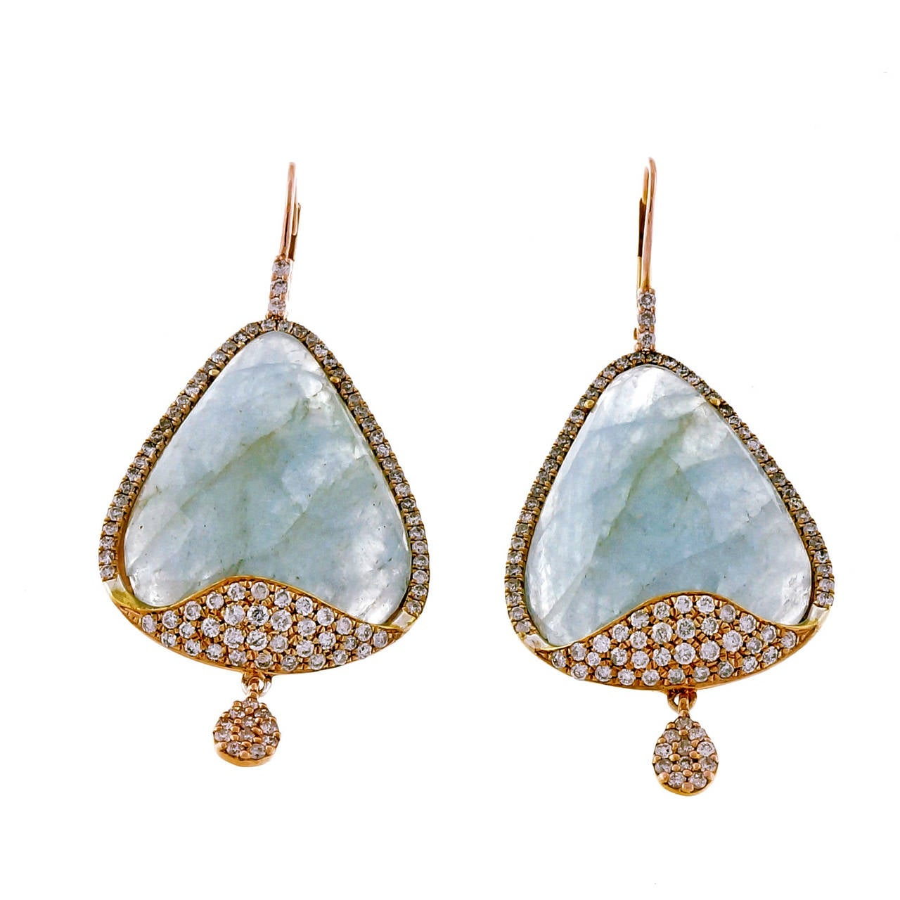 meira t aquamarine micro pave gold dangle earrings