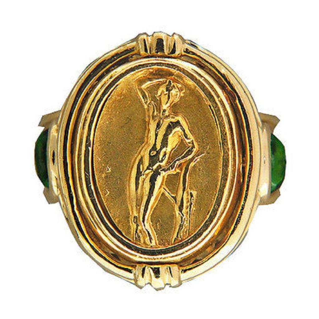 Seidengang Amethyst Tourmaline Gold Flip Ring  2