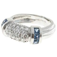 Judith Ripka Sapphire Diamond Gold Dome Ring