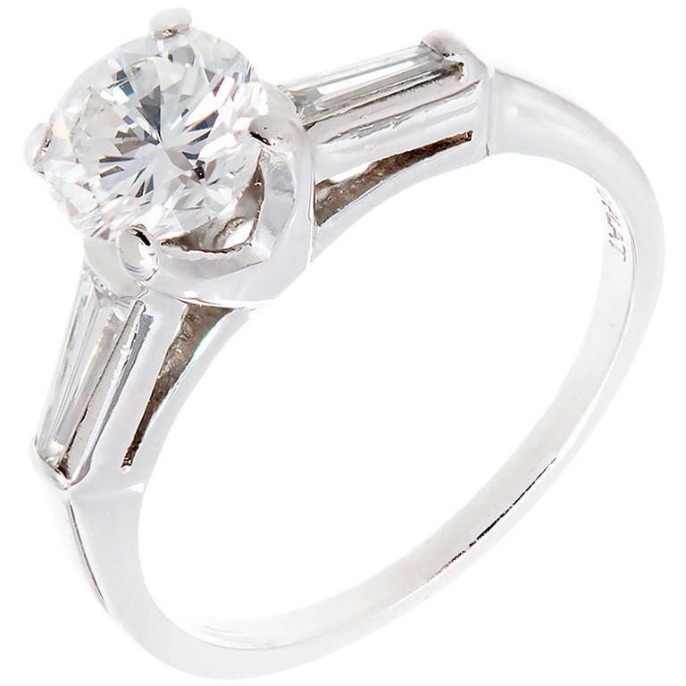 Transitional Diamond and Platinum Engagement Ring