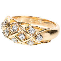 Jabel .25 Carat Diamond Gold Dome Ring, circa 1960