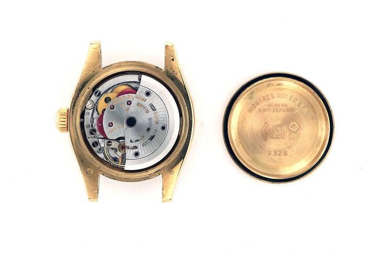 Women's Rolex Lady's Yellow Gold Datejust Wristwatch Ref 179178, circa 2002 For Sale