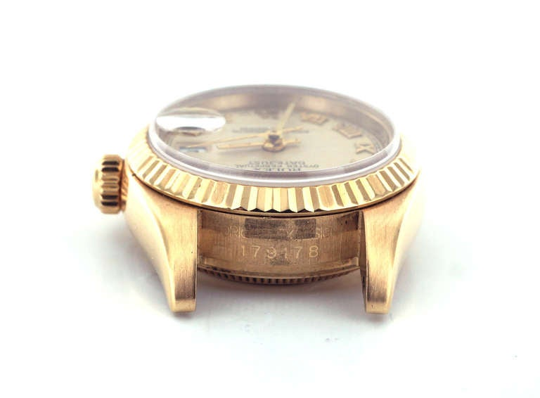 Rolex Lady's Yellow Gold Datejust Wristwatch Ref 179178, circa 2002 For Sale 1