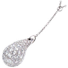 Tiffany & Co. Elsa Peretti Diamond Platinum Teardrop Necklace