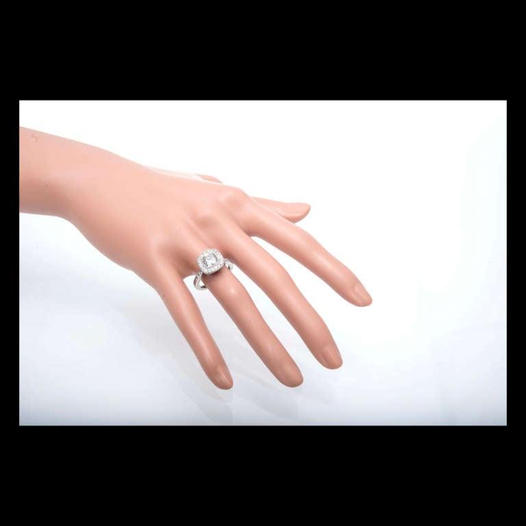 Diamond Halo Platinum Ring 3