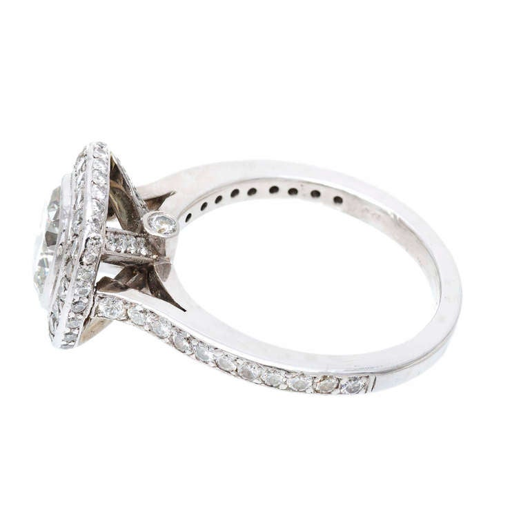 Diamond Halo Platinum Ring 5