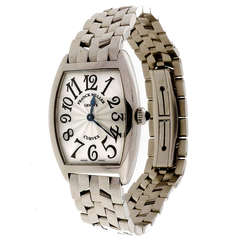 Franck Muller Lady's Stainless Steel Curvex Wristwatch circa 1990s