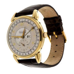 Movado Tiffany & Co. Yellow Gold Triple Calendar Wristwatch