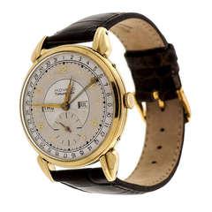 Movado Tiffany & Co. Yellow Gold Triple Calendar Wristwatch