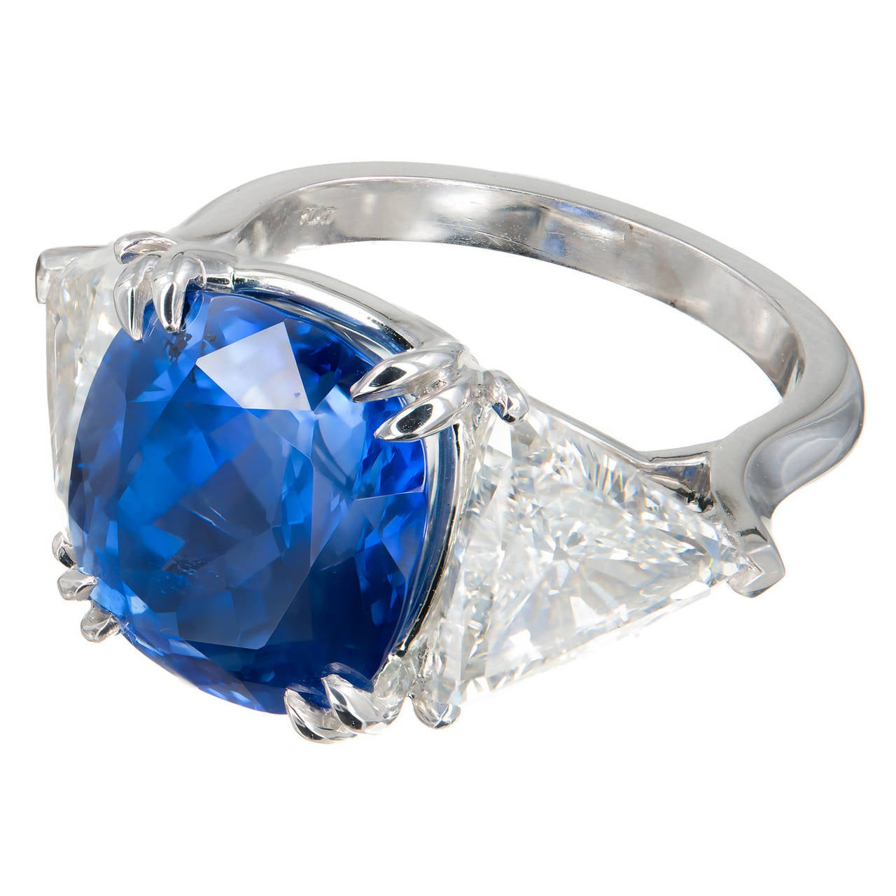 is gemstone hammered the beautiful birthstone gold large sapphire ring diamonds for september what