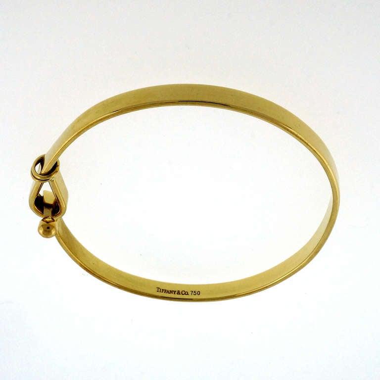db8425bea5b10 Tiffany & Co. Yellow Gold Hook and Eye Style Bangle Bracelet