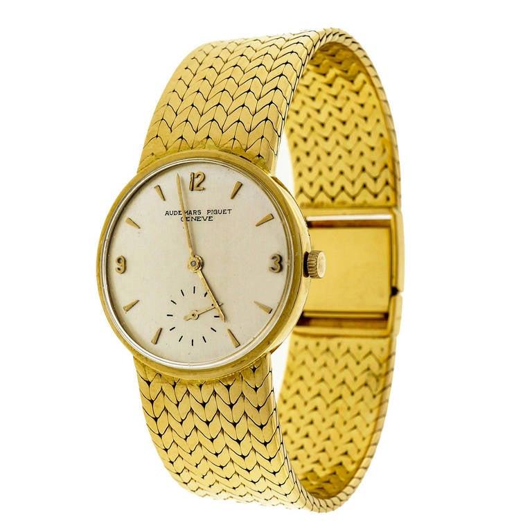 Audemars Piguet Yellow Gold Wristwatch with Integral Bracelet circa 1950