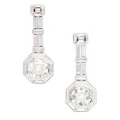9.14 Carat GIA Certified Diamond Platinum Dangle Earrings