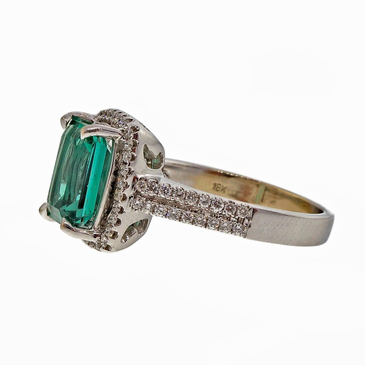 tourmaline gold halo engagement ring at 1stdibs