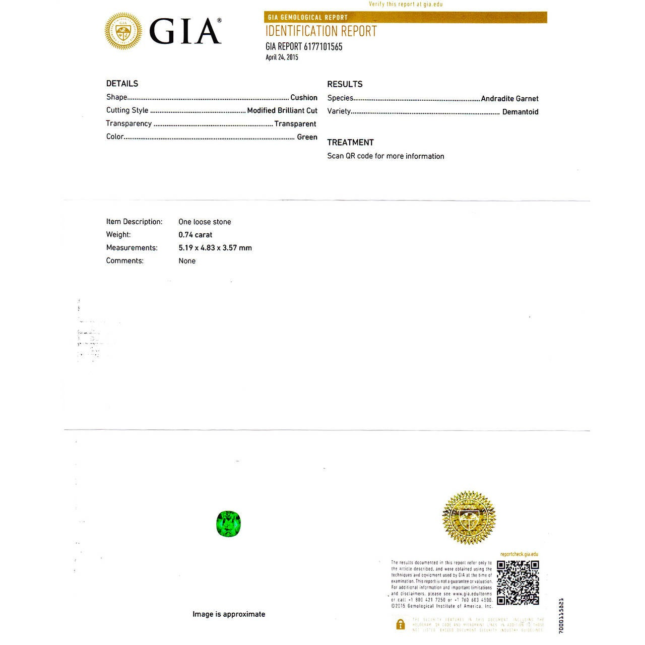 Demantoid Garnet Platinum Ring For Sale 4