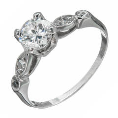 EGL Certified .61 Carat Diamond Platinum Engagement Ring